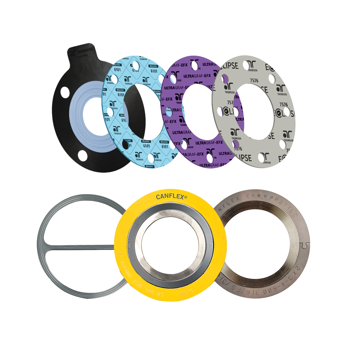 compressed sheet gaskets and metal gaskets