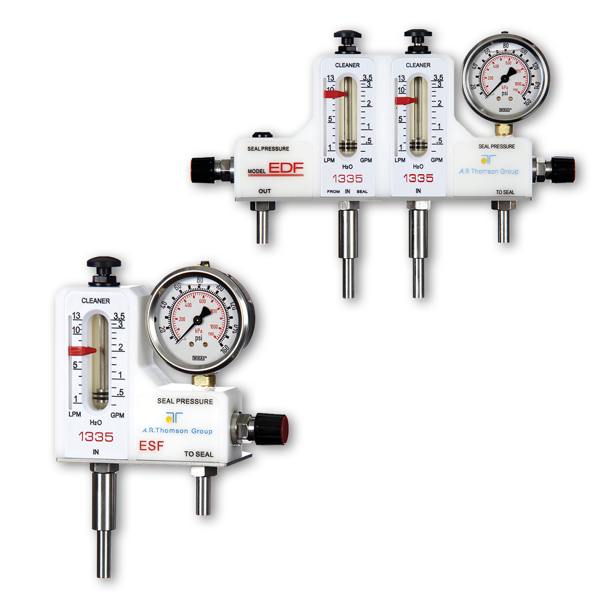 single and dual flow meters for pumps