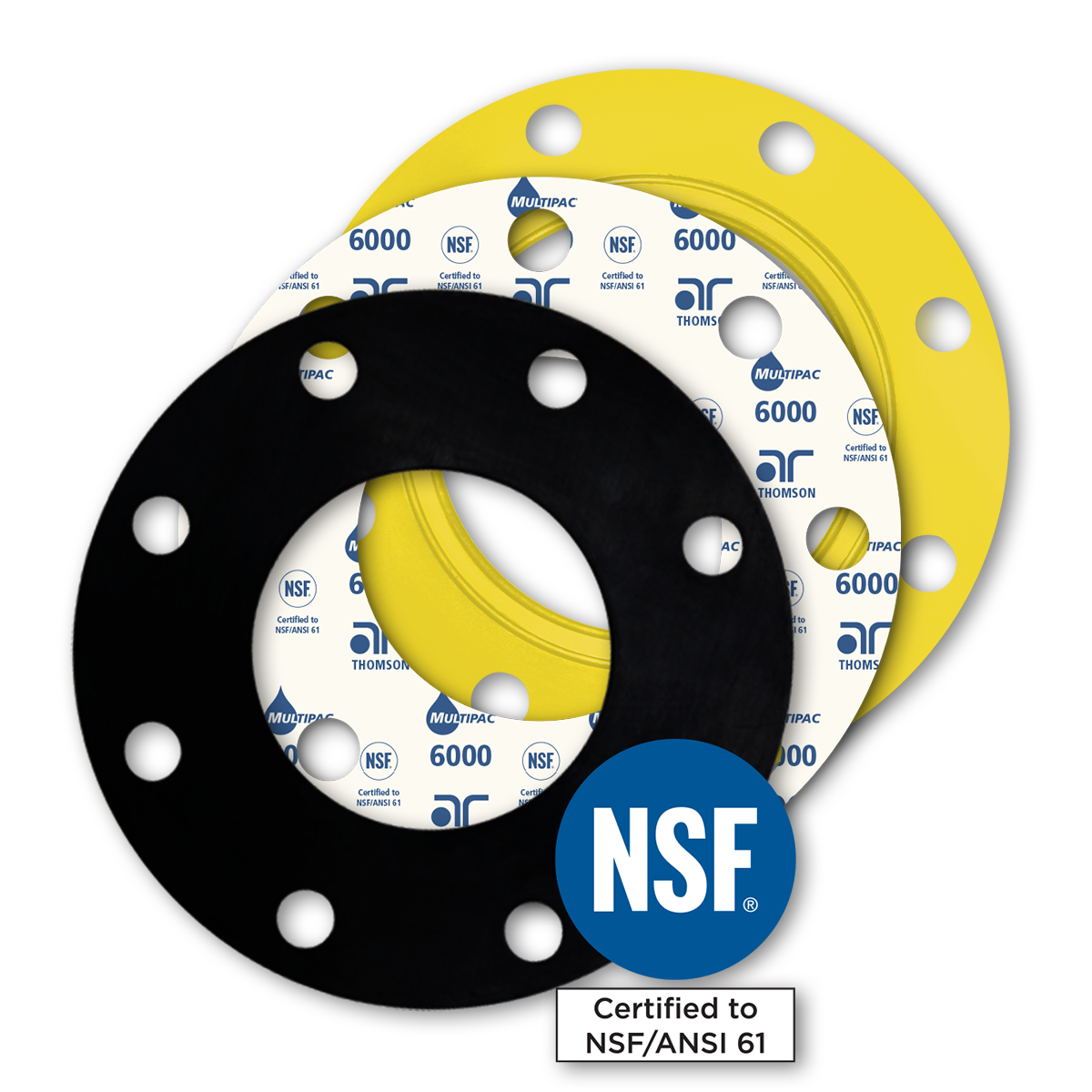NSF 61 AWWA certified gaskets for potable water